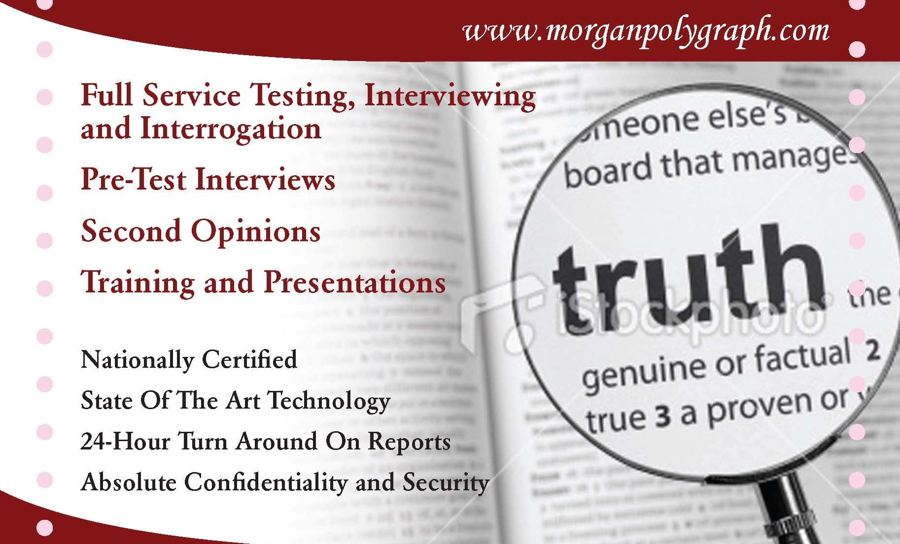 Morgan Polygraph and Credibility Assessment